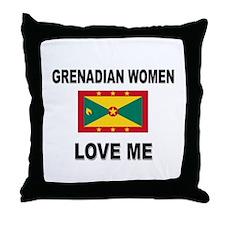 Grenadian Women Love Me Throw Pillow