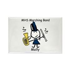 Clarinet & Baritone - Molly Rectangle Magnet