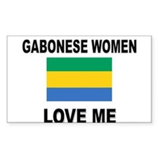 Gabonese Women Love Me Rectangle Decal
