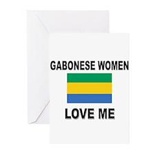 Gabonese Women Love Me Greeting Cards (Pk of 10)
