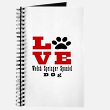 Love Welsh Springer Spaniel Dog Designs Journal