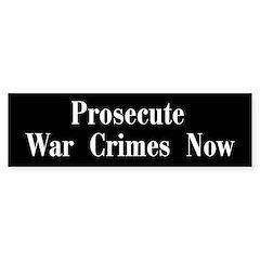 Anti-Bush-Cheney - War Crimes - Bumper Bumper Sticker