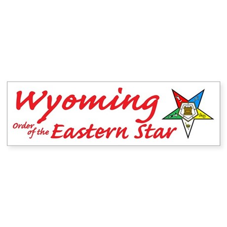 Wyoming Eastern Star Bumper Sticker (10 pk)