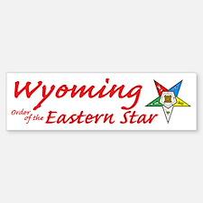 Wyoming Eastern Star Bumper Bumper Bumper Sticker