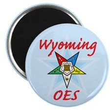 "Wyoming Eastern Star 2.25"" Magnet (10 pack)"