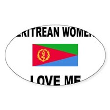 Eritrean Women Love Me Oval Decal
