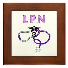 LPN Medical Nursing Framed Tile