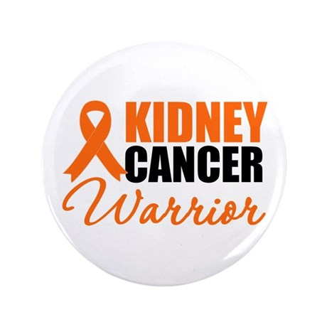 """Kidney Cancer Warrior 3.5"""" Button"""