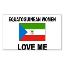 Equatoguinean Women Love Me Rectangle Decal