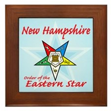 New Hampshire Eastern Star Framed Tile
