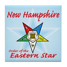New Hampshire Eastern Star Tile Coaster