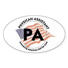 Patriotic PA Oval Decal