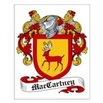 MacCartney Family Crest Small Poster
