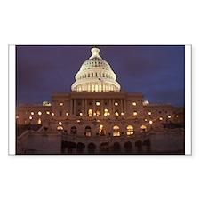 Washington DC Rectangle Sticker 10 pk)
