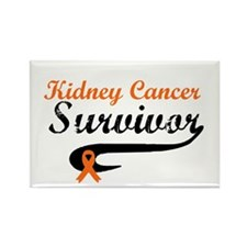 Kidney Cancer Grunge Rectangle Magnet