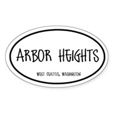 Arbor Heights Oval Decal