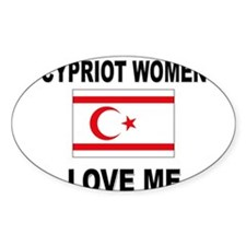 Cypriot Women Love Me Oval Decal