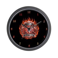 Fire Dept. Wall Clock