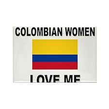 Colombian Women Love Me Rectangle Magnet