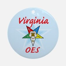 Virginia Eastern Star Ornament (Round)
