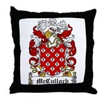 McCulloch Family Crest Throw Pillow