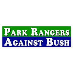 Rangers Against Bush bumper sticker