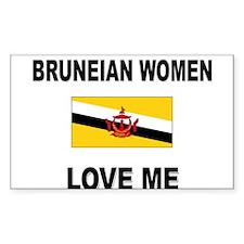 Bruneian Women Love Me Rectangle Decal