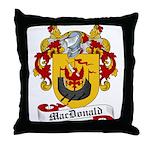 MacDonald Family Crest Throw Pillow