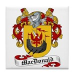 MacDonald Family Crest Tile Coaster