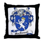 MacDowall Family Crest Throw Pillow