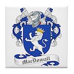MacDowall Family Crest Tile Coaster