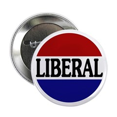 Liberal Red White and Blue Button