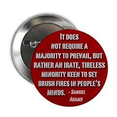 10 pack Sam Adams Quote Button