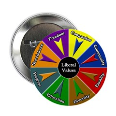 Ten Discount Liberal Values Buttons