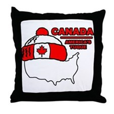 Funny Canada Throw Pillow