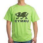 Vintage Cymru Green T-Shirt