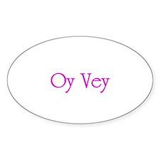 Oy Vey - Oval Sticker (10 pk)