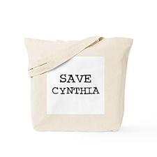 Save Cynthia Tote Bag
