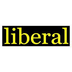 liberal bumper sticker (yellow/black)
