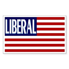 Liberal Flag (rectangular bumper sticker)