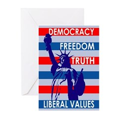 Our Liberal Values (6 Greeting Cards)