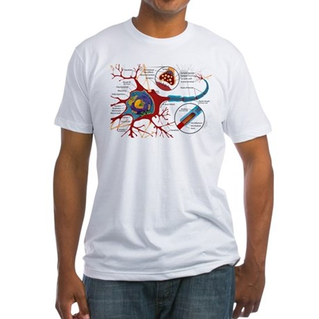 Neuron cell Fitted T-Shirt