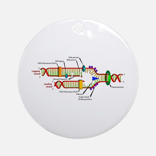 DNA Synthesis Ornament (Round)