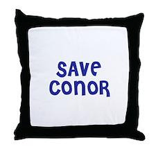 Save Conor Throw Pillow