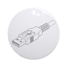 USB Plug Ornament (Round)
