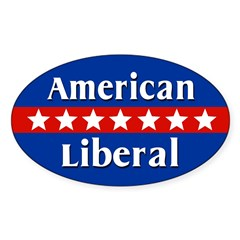 American Liberal Oval Car Decal