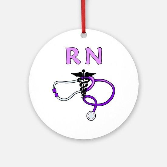 RN Nurse Medical Ornament (Round)