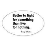 Fight for Something Oval Sticker (10 pk)