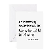 Patton on Death Greeting Card