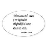Patton's Measure of Success Oval Sticker (10 pk)